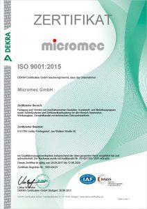 Micromec Zertifikat-ISO-9001_2015-De